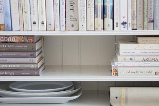 101 cookbooks kitchen shelf