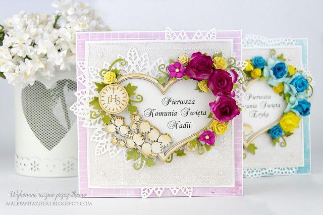 Blog Craft Passion: Kartki komunijne / Communion cards