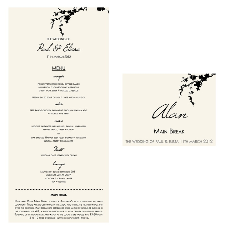 Menu and jam jar labels - last minute wedding requests from a client.