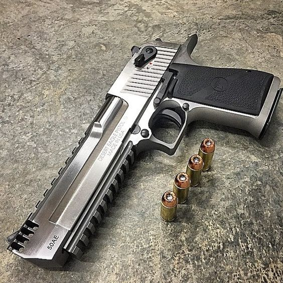 Desert eagle chambered in 50 AE:
