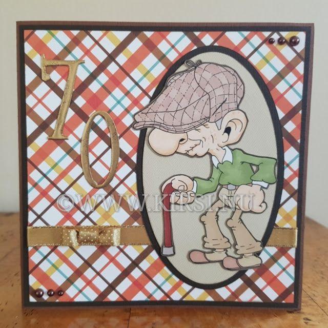 Kirsi: Gubbkepskortet - The Flat cap card.Fick en beställ...