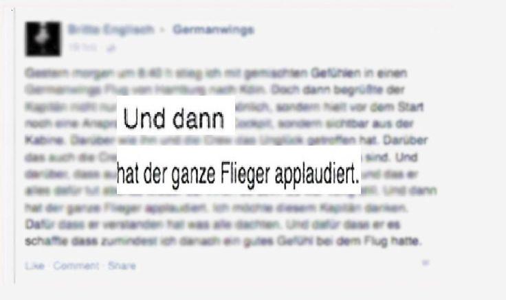 """""""Dann hat der ganze Flieger applaudiert"""": Passagierin bedankt sich mit rührendem Post bei tapferem Germanwings-Pilot http://www.focus.de/panorama/welt/dann-hat-der-ganze-flieger-applaudiert-passagierin-bedankt-sich-mit-ruehrendem-post-bei-tapferem-germanwings-pilot_id_4573598.html"""