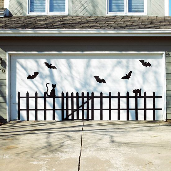 Garage Door decoration idea