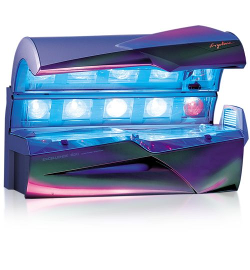 Excellence 850 - The Excellence 850 is where luxury meets power giving users a long-lasting intense tan. This bed provides a roomy interior with Body Wave technology and has a Temptronic climate control for the climate tanning experience.