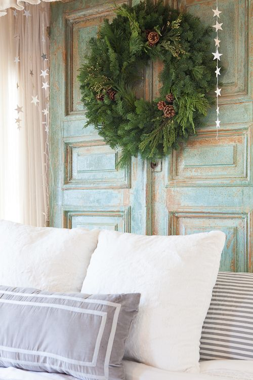 Headboard. From the Living With Kids Home Tour featuring Candice Stringham.Candice Stringham, Bluey Colors, Barn Doors, Hanging Stars, Design Mom, 500 750 Pixel, Barns Doors, Img 6237 Jpg 500 750, Stars Garlands