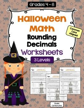 These Halloween themed worksheets cover rounding decimals. These worksheets include 3 different levels. Level 1 is basic and is the easiest. Level 2 is intermediate and is a little more difficult. Level 3 is advanced and is the most challenging. This is part of a larger bundle of Halloween Decimal Worksheets that is 50% off.
