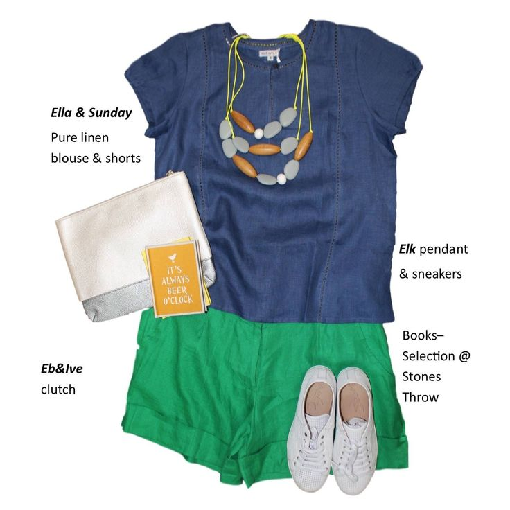 Love linen.. Ella & Sunday blouse and tailored shorts