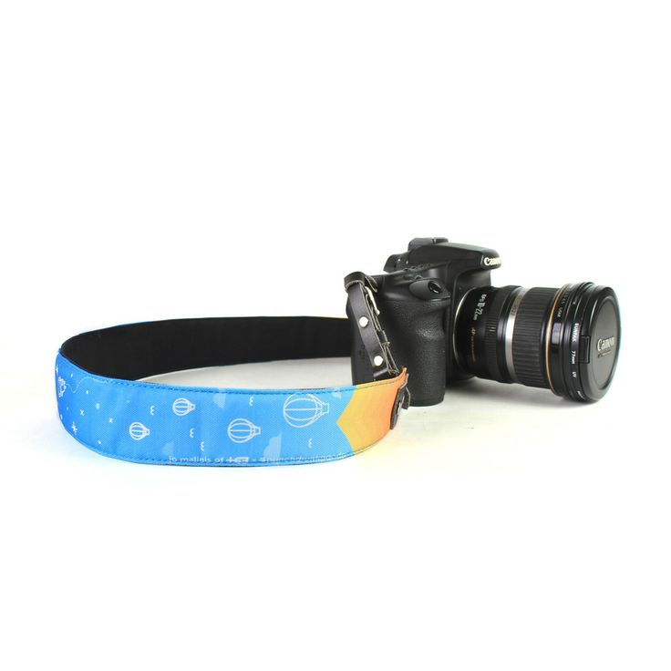 Punchdrunk Panda Camera Strap - {Air} - Ever dreamt of exploring a galaxy far, far away? Plus 63's Jo Malinis turns this fantasy into a reality with a quirky design that leaves you floating around the vast reaches of outer space. Available in 2 sizes. Price starts from Php495. #punchdrunkpanda #photography #camerastrap