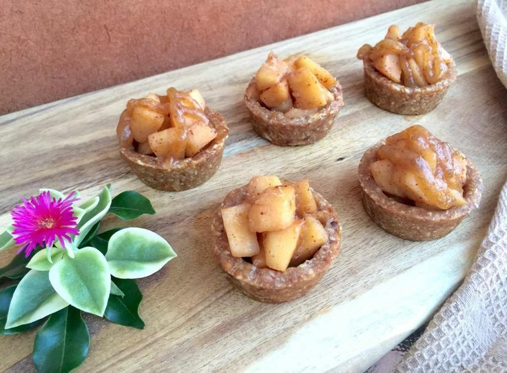 Healthy Mini Apple Tarts With Caramel Sauce