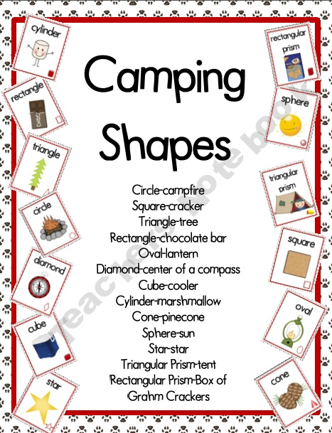 Camping Theme Shape Posters product from CampKindergarten on TeachersNotebook.com