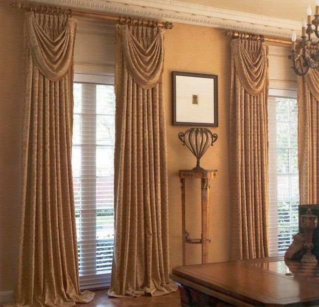 Curtain Cute Interior Home Decorating Ideas With Cafe: SWAGS & TAILS IDEAS