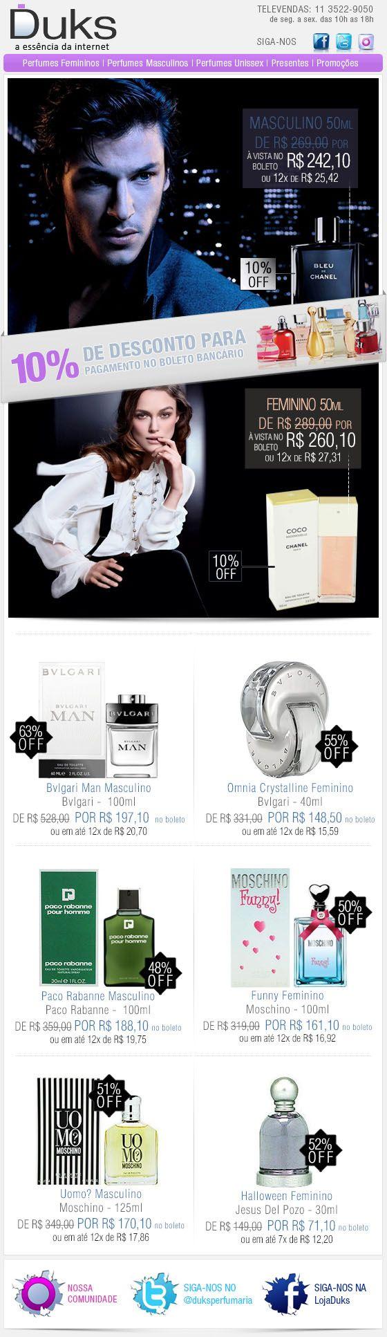 E-mail Marketing Duks Perfumes Promoção 17/12/2013 http://www.duks.com.br/sistema/custom.asp?IDLoja=11220&arq=emkt_12_17.htm&int=1&origem=emailmkt