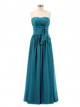 6fe1784aca3 Ink Blue Cassiopeia V Neck Long Chiffon Dress with Bow