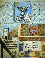 Mural by Joao Viola (pintor joao viola) Tags: church arte manuelino pedrogaogrande joaoviola artedejoaoviola foralmanuelino brasomunicipiodepedrgogrande