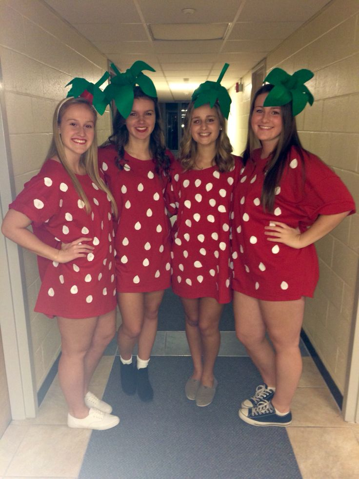 DIY cute and easy strawberry Halloween costume | stuff to ...