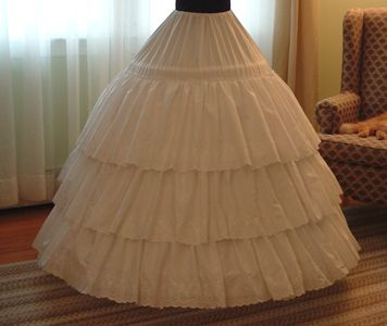 Constructing a tiered petticoat; 3 types