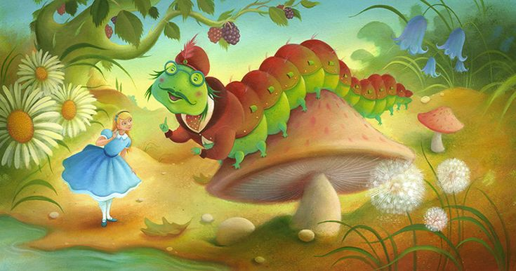 Richard Johnson | ILLUSTRATION | Alice in Wonderland - The Caterpillar
