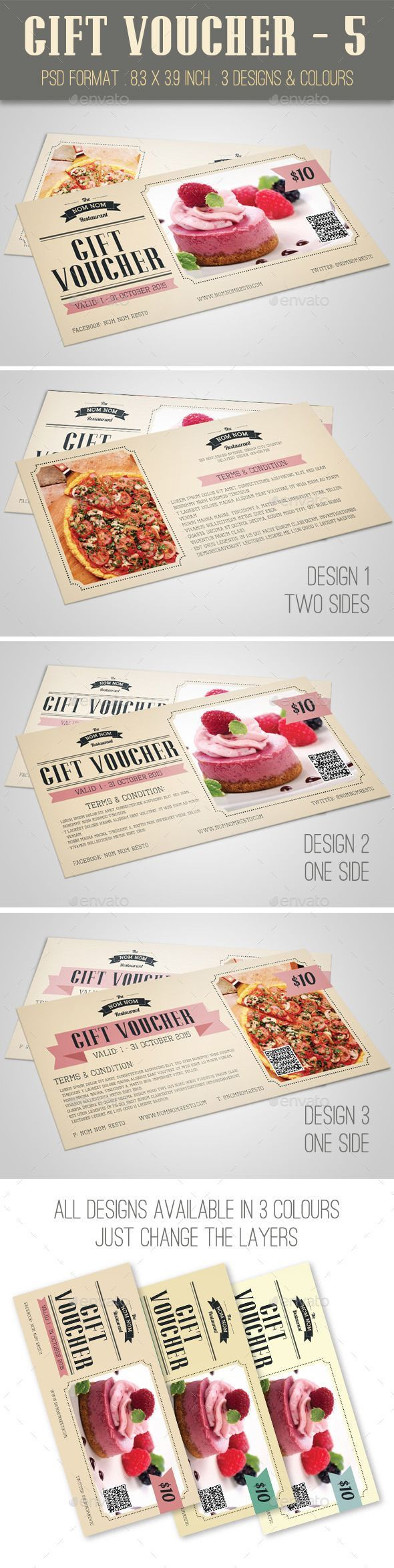 Best Nice Voucher Images On   Coupon Design Gift