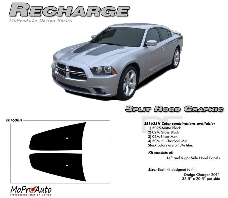 2011 2012 2013 2014 recharge hood vinyl graphics kit for dodge charger