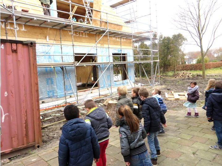 Excursie met kleuters naar de bouwplaats, kleuteridee, thema wij bouwen een huis 1