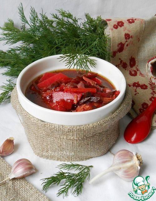 Суп со свеклой и солеными огурцами - кулинарный рецепт