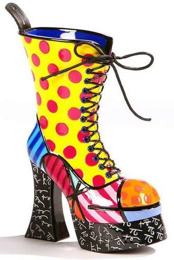 Romero Britto sculpture - My best friend gave me this shoe for my Birthday.