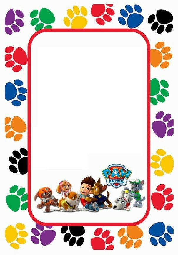 This is a photo of Breathtaking Paw Patrol Borders