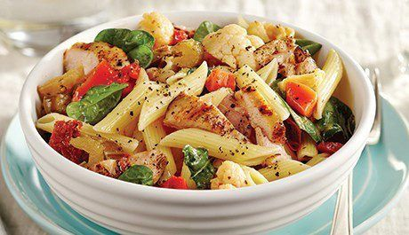 A dinner-time staple, our Grilled Chicken with Antipasto Pasta Salad is easy to whip up on busy weeknights. Ready in under 30 minutes. Give this recipe a try tonight!