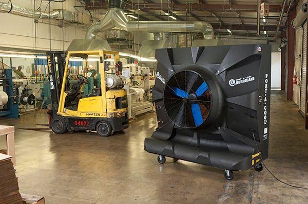 Enfriador Evaporativo - Port-A-Cool: Estrés termico puesto de trabajo centro logistico