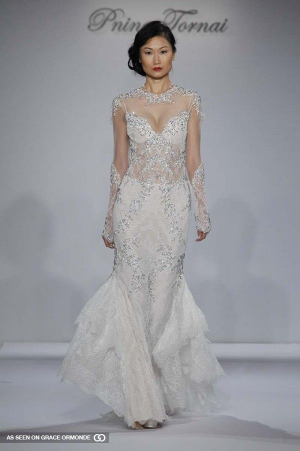 28 best pnina tornai 2015 runway collection images on for Kleinfeld wedding dresses with sleeves