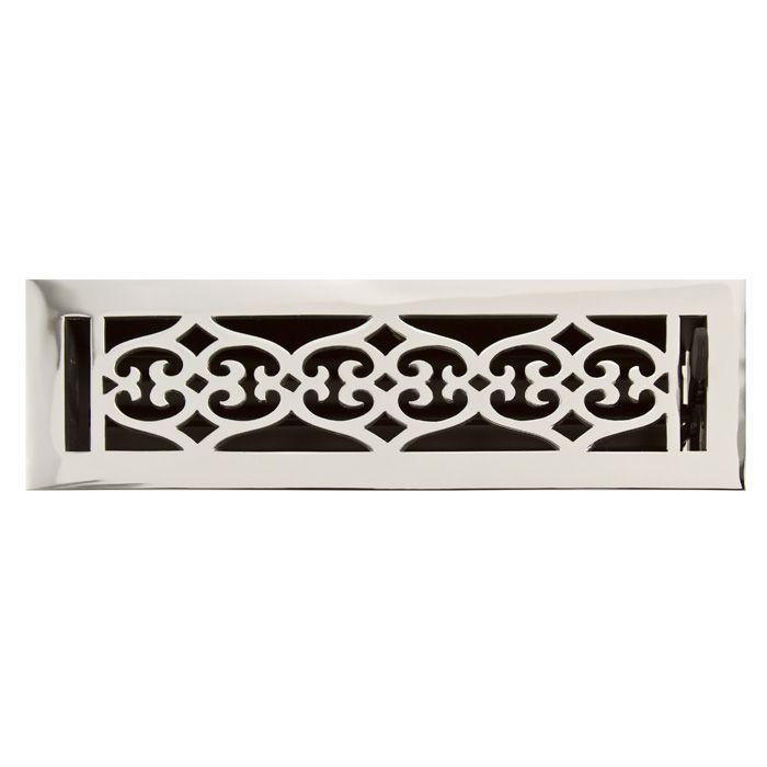 old victorian solid brass floor register