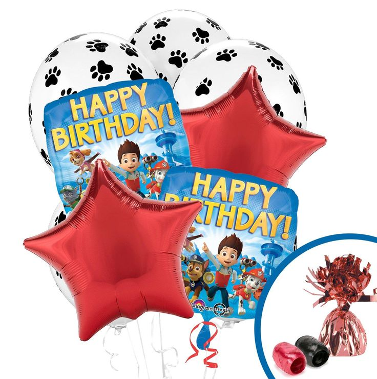 PAW Patrol Balloon Bouquet from BirthdayExpress.com