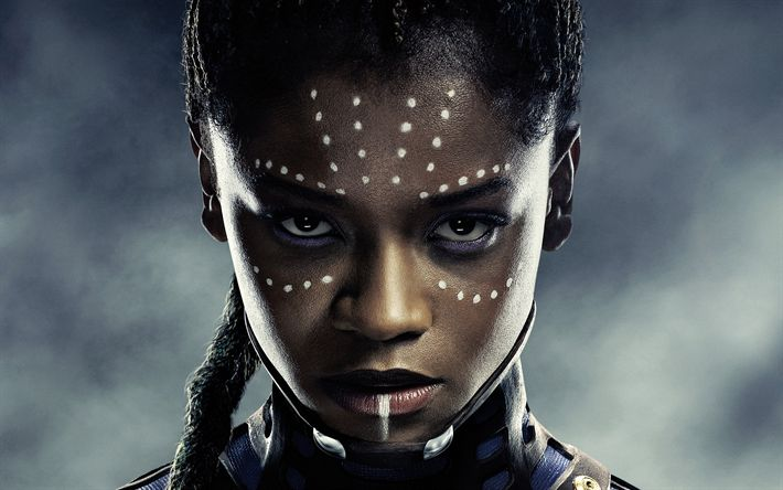 Download wallpapers Shuri, 4k, 2018 movie, Black Panther, Letitia Wright