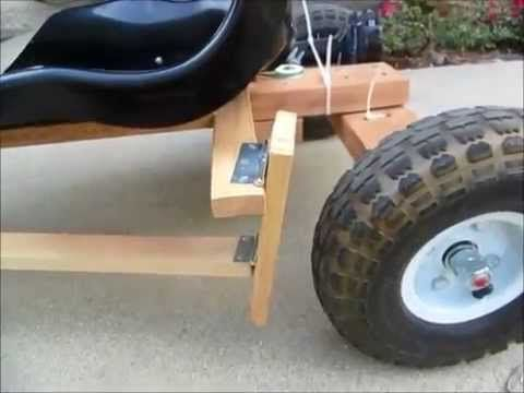 DIY Go Kart Powered by Drill Motor Detail - YouTube