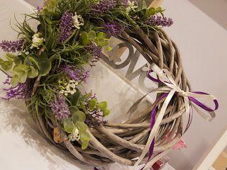 Handmade by Alex: Fioletowo mi... Purple autumn :-) Purple wreath......