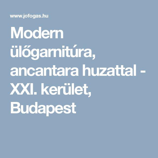 Modern ülőgarnitúra, ancantara huzattal - XXI. kerület, Budapest