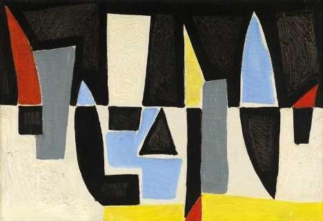 Caziel, Wc ,351, c.1952, huile sur toile, 38 x 55 cm Artiste polonais et anglais.