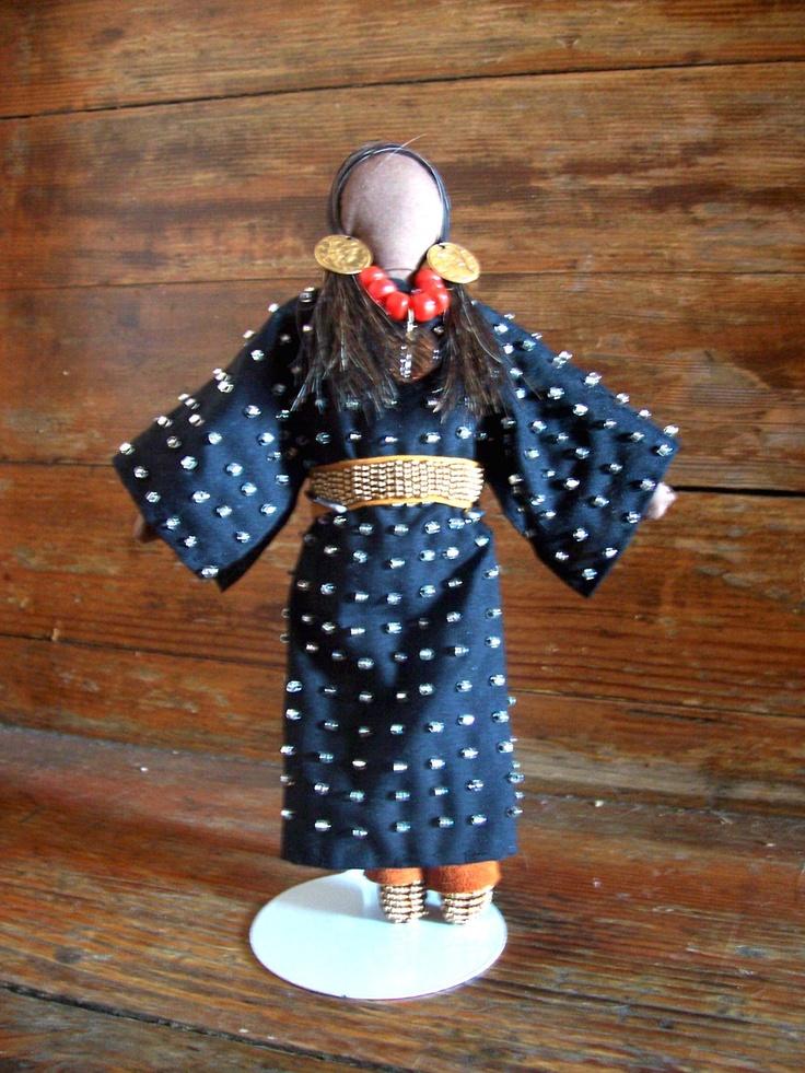 Native American Indian Doll. $150.00, via Etsy.