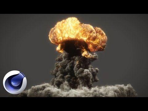 Сногшибательный взрыв в Cinema 4D (пламя, дым) - YouTube