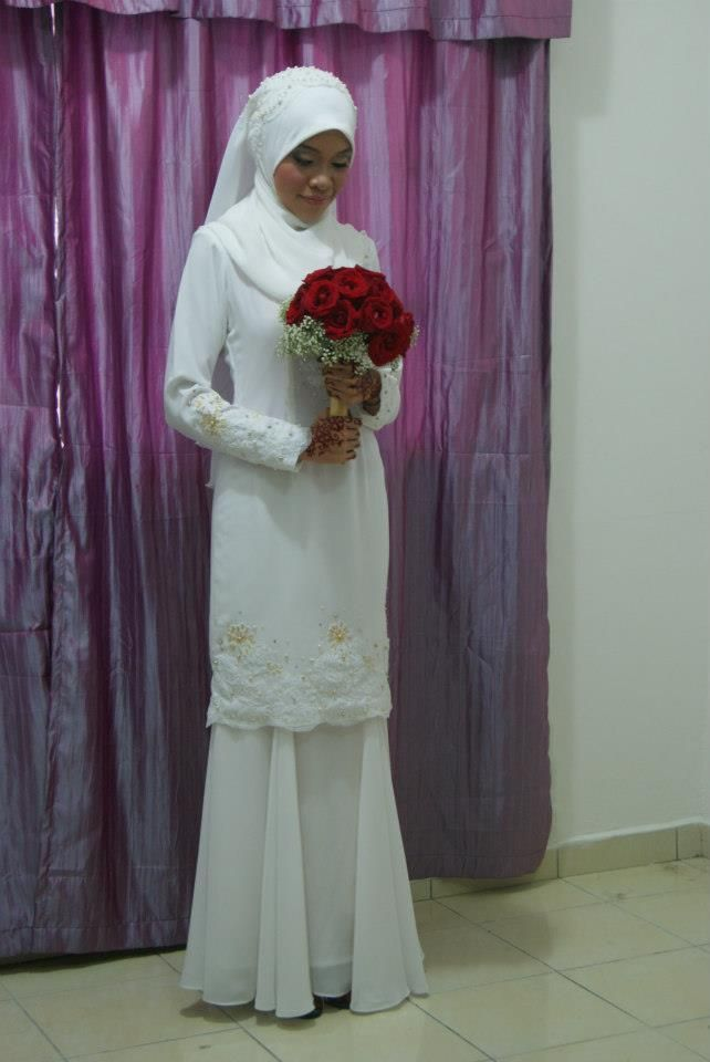 idea simple baju nikah