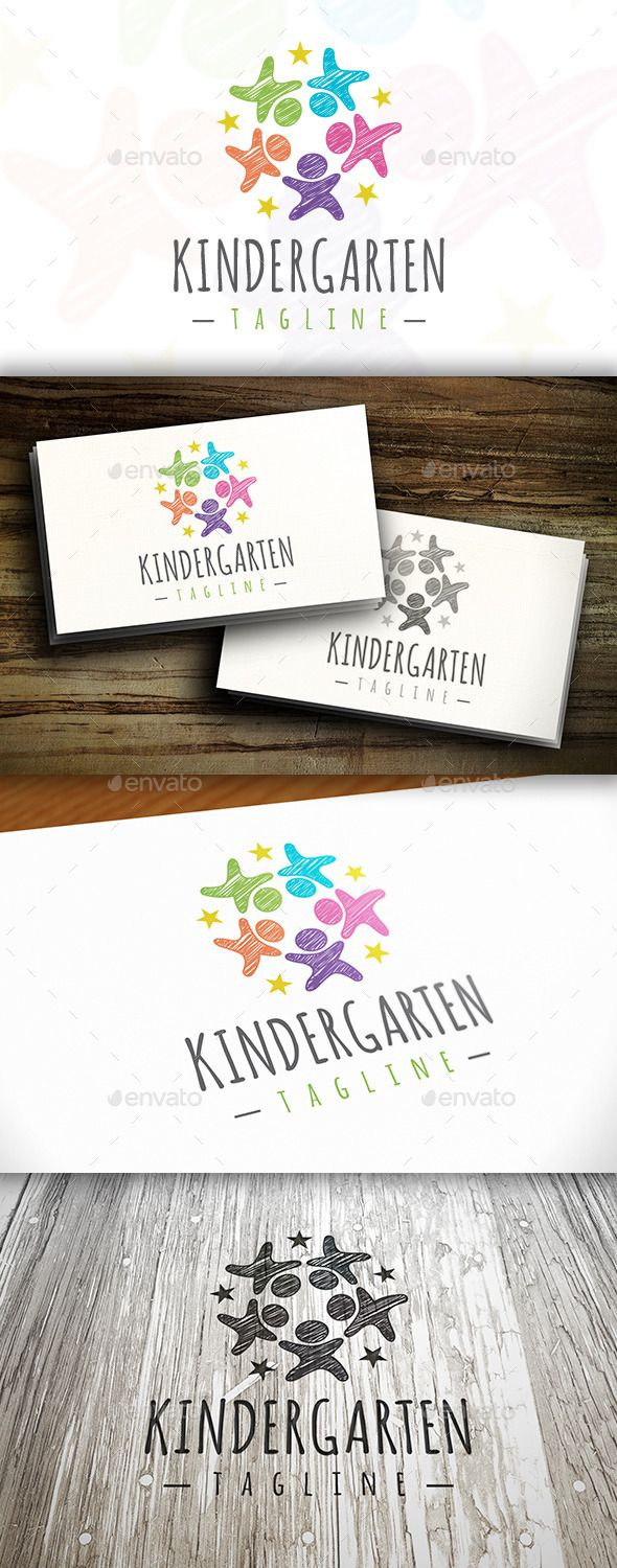 Kindergarten Logo — Vector EPS #social #united logo • Available here → https://graphicriver.net/item/kindergarten-logo/10254341?ref=pxcr