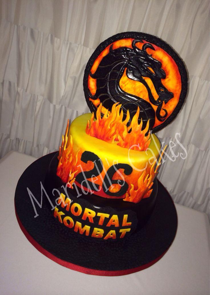 Mortal Kombat Birthday Cake Maridell S Cakes Pinterest