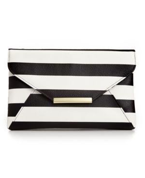 Stlye&co. Lily Envelope Striped Clutch
