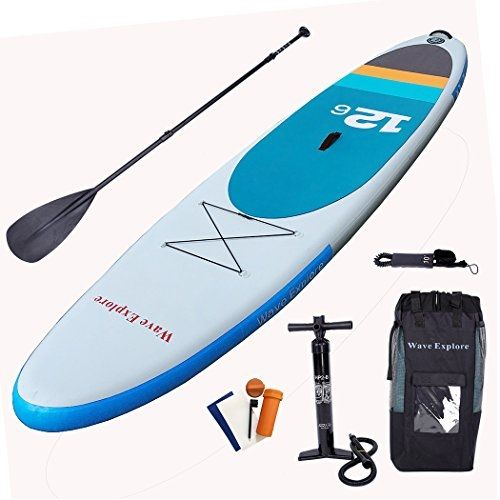 72af89766 Wave Explore 12 6 Inflatable  SUP Stand Up Paddle  Board Surfboard with  Backpack