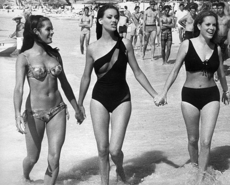 Martine Beswick, Claudine Auger and Luciana Paluzzi