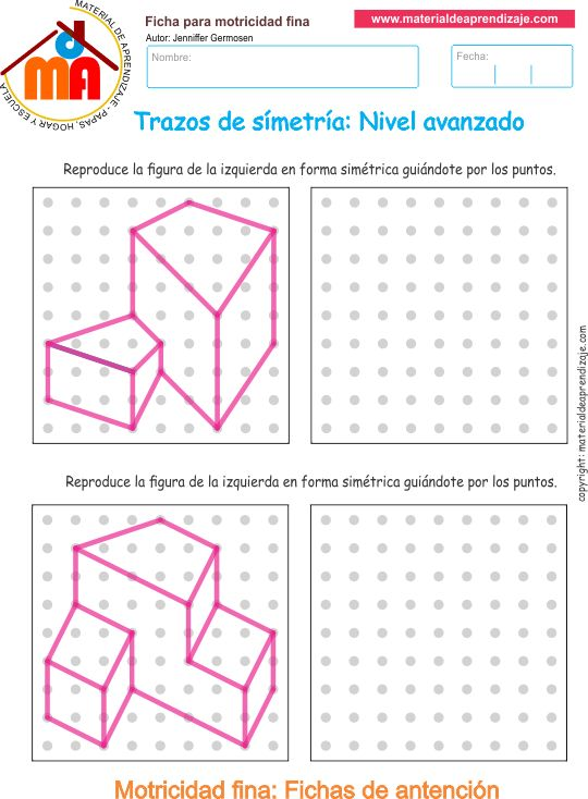 Trazos de simetría: Nivel avanzado 10