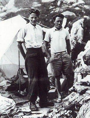 Leininger et Alain...A5L: HISTORIA DE LA ESCALADA EN ROCA (1930-1940)