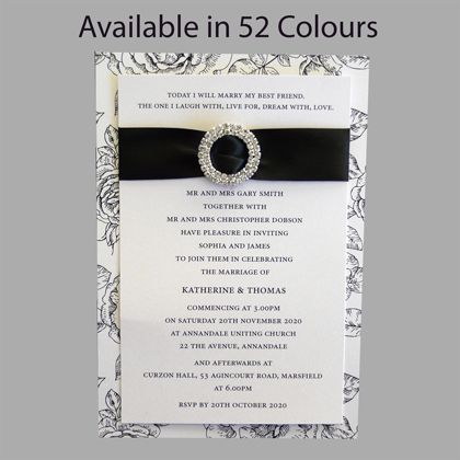 Running out of wedding invitation ideas?  This style of invitation can be modified to suit your needs. Available in more than 50 colours.www.kardella.com