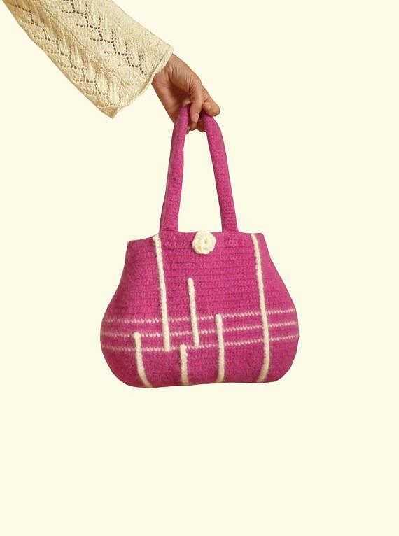 Handtasche gefilzt in altrosa Tasche Designertasche