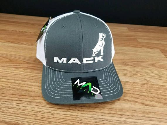 b0441617 Semi Trucks, Mack Trucks, White Bulldog, Embroidered Hats, Custom Made Hats,  Truck Caps, Mens Caps, Richardson 112, Charcoal